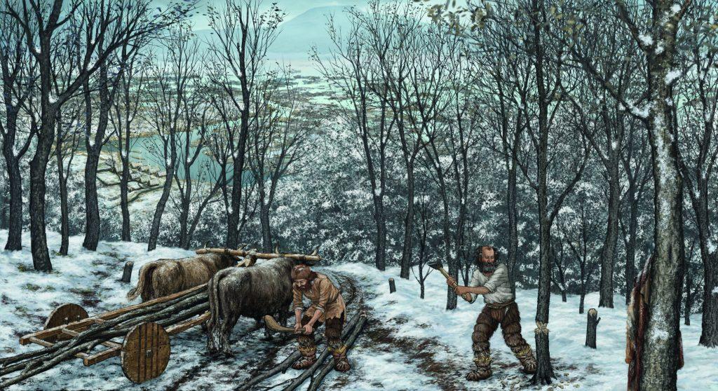 Rekonstrukcija prazgodovinskega voza, ilustracija: Irena Šinkovec, Igor Rehar, MGML